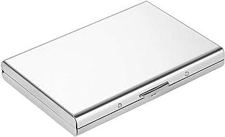 Vicloon Porta Carte, RFID e NFC Blocking Porta Tessere Credito in Acciaio Inox per Uomini e Donne,Portafoglio Elegante Via...
