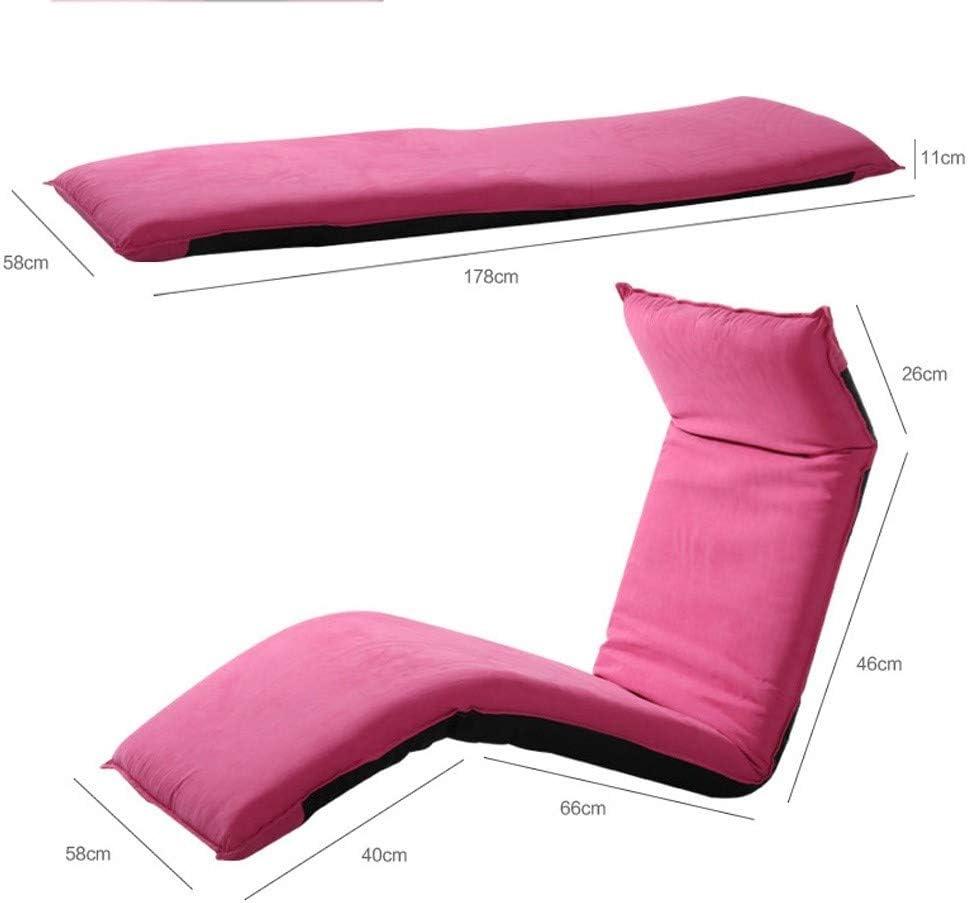 Chaise de Plancher Pliable Chaise de méditation Intriqués Tatami Legless Lit Réglable Balcon Chambre Chaises Pliantes Chaise D'ordinateur ZHENG (Couleur : A) A
