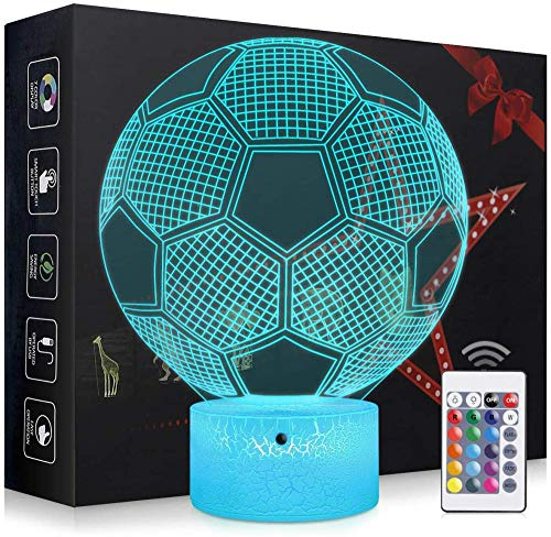 3D LED nachtlampje 3d illusion 7 kleuren optioneel touch tafellamp visuele lamp huisdecoratie voetbal