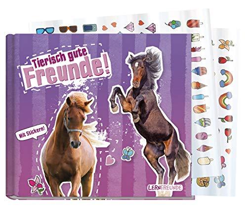 Freundebuch Schule für Mädchen [Pferd] Hardcover Poesiealbum, liebevoll und witzig gestaltet - mit bunten Stickern! von Lernfreunde by Häfft | nachhaltig & klimaneutral