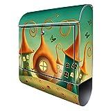 Banjado Design Briefkasten mit Motiv Zwergenhausen