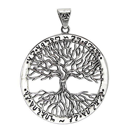 Moonlight Mysteries Sterling Silver Mickie Mueller Witches Tree of Life Pendant
