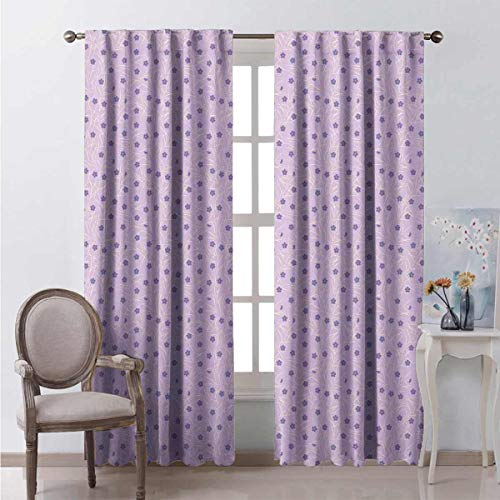 Toopeek Blackout curtain Flowery Spring Twigs 2 panels W108 x L108 Inch