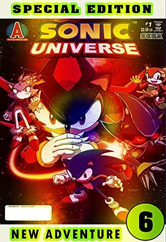 Hedgehog New Adventure: Book 6 2021 Edition Cartoon Comic Great Adventure Of Sonics For Boys, Children (English Edition)
