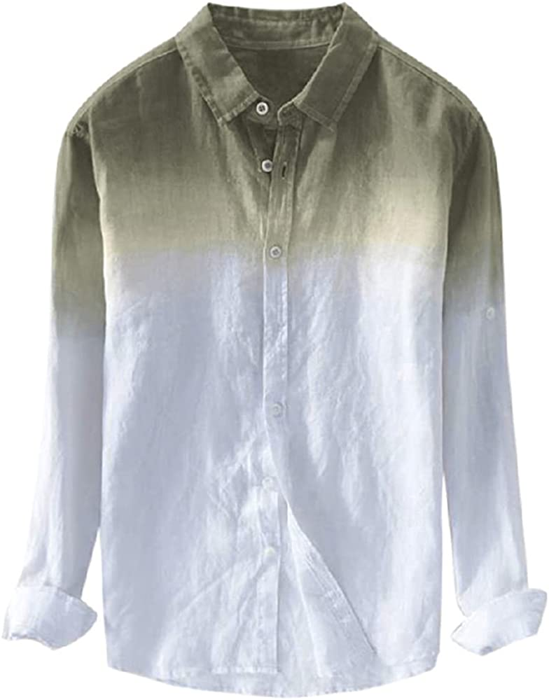 N\P Casual Men Long Max 77% OFF Sleeve Cool Man Thin Today's only Shirts Sum Loose
