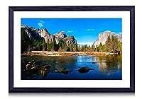 カリフォルニアのヨセミテバレー -自然 -#48580 - 絵画 装飾画 壁飾り アートパネル インテリアアート 木製の枠 壁ポスター モダン 現代壁の絵 額縁付きの完成品 横 40×60cm