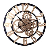 H0_V Redondo Reloj de Pared Silencioso, 60cm Reloj de Pared