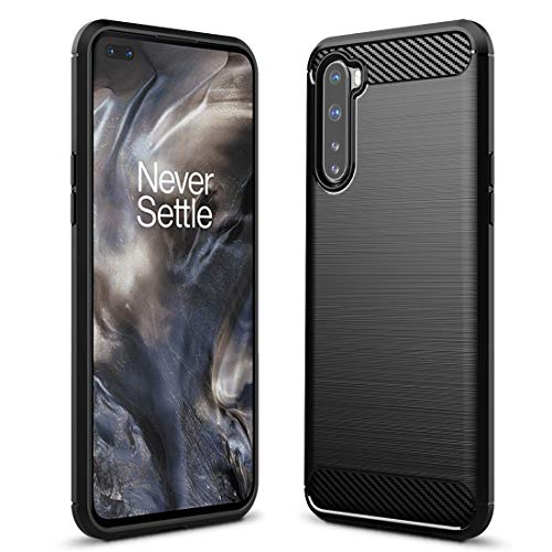 Sucnakp Oneplus Nord Case Oneplus Z Case Oneplus 8 Nord 5G Case TPU Shock Absorption Technology Raised Bezels Protective for Oneplus Nord 5G(TPU Black)