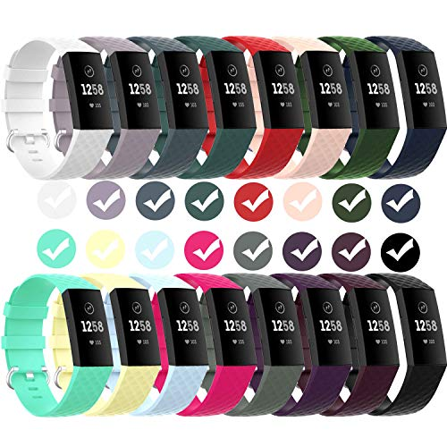 GVFM Waterproof Bands for Fitbit Charge 3/ Fitbit Charge 4/ Charge3 SE, Replacement Wristbands for Women Men Small Large (S: for 5.5