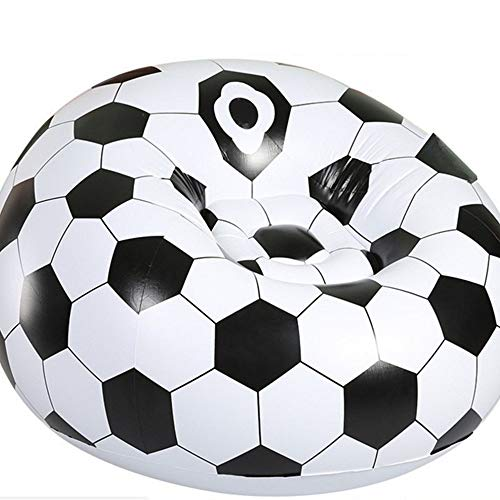 Sofá De Baloncesto De Fútbol, Sofá Inflable Plegable, Sillón Inflable De Ocio Al Aire Libre, un sofá cama individual Para El Hogar (Football)