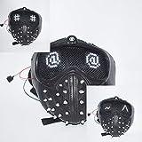 DMAR WatchDogs 2 beleuchtete Masken (veränderbarer Ausdruck), Nietschlüssel-Halbmaske mit...