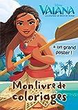 Disney Vaiana - Mon livre de coloriages + un grand poster
