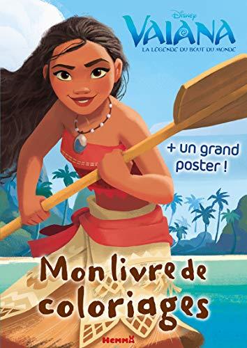 Disney Vaiana Mon livre de coloriages + un grand poster (Coloriage poster)