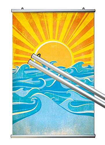 Close Up Klemmleisten - 2 Posterleisten/Posterschienen/Plakatleisten - Aluminium -Silber - 61 cm