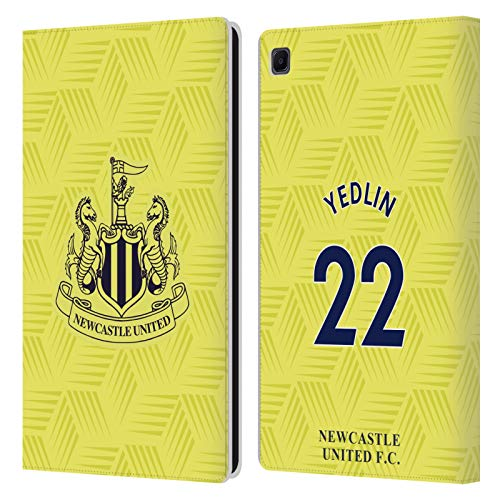 Official Newcastle United FC NUFC DeAndre Yedlin 2020/21 Players Away Kit Group 2 Leather Book Wallet Case Cover Compatible For Samsung Galaxy Tab S6 Lite