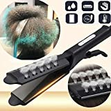 ストレートヘアアイロンフォーギア可変温度セラミック鉄スチームストレートヘアアイロン、ホームパネル髪カーラーを広げます