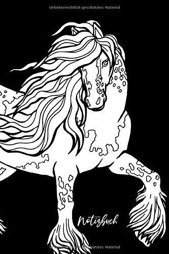 Notizbuch: Pferde Notizbuch A5 Punktraster | Notizheft | Tagebuch | Cover zum selbst bemalen | Geschenk Weihnachten, Geburtstag | 120 Seiten