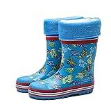 ADDYZ Zapatos de lluvia de los niños del patrón del excavador del muchacho...