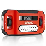 Duronic Apex Radio Am/FM Portátil - Carga Solar, USB o Dinamo - Linterna - Conector de Auriculares y Función de Alarma - Pantalla Digital Retroiluminada – Ideal para Emergencias, Camping, Senderismo