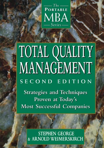 Compare Textbook Prices for Total Quality Management 2 Edition ISBN 9780471191742 by George, Stephen