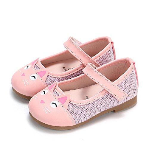 ✿ Harpily Zapatos Niñas Carnaval, Zapatillas Princesa NiñA Dibujo De Gato Sandalias De Vestido Flat Shoes Bailarinas Princesa Zapatos con Tacón para CumpleañOs Fiesta Cosplay