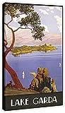 FZSMXH Pintura De La Lona 30x50cm Sin Marco Cartel Vintage del Lago de Garda, decoración de 8 dormitorios, decoración de habitación de Oficina, Regalo