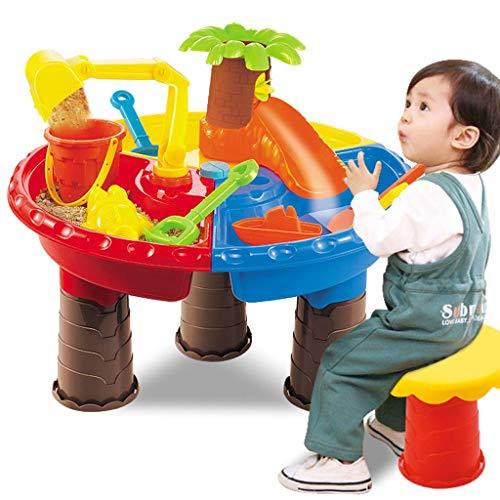 ZZALLL - Mesa de Juego para niños con Arena y Agua, Juego de Arena para jardín, Juguete de Playa Junto al mar - A #