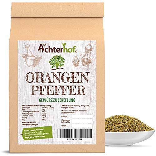 Orangenpfeffer grob 100g für die Pfeffermühle geeignet Gewürzzubereitung Pfeffer-Körner geschrotet natürlich vom-Achterhof