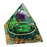 sharprepublic Crystal Pyramid Amethyst Balancing Yoga Meditation Gemstone Home Decor