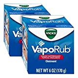 Vicks VapoRub Chest Rub Ointment 6 oz (2 Pack) - Relief from Cough, Cold, Aches, and Pains...