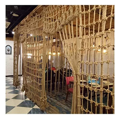 Net, hoge hoogte, henneptouw, decoratie voor de muur, binnen, foto-net, plafondnet, disco, bar, decoratief net vintage (afmetingen: 2 x 9 m) voor kinderen 1*1m Mesh12cm