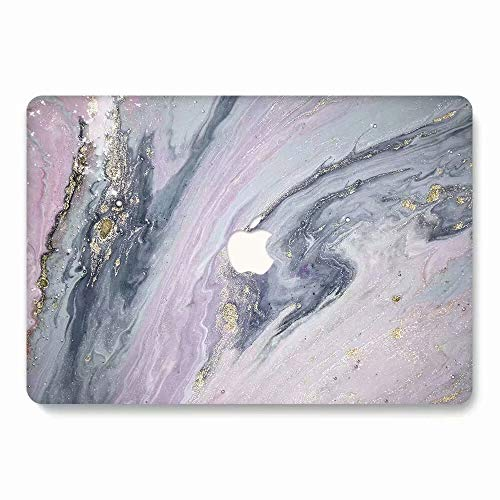 MacBook Pro 13 Case 2016 2017 2018 Model A1706/A1708/A1989, AQYLQ Matt Plastic Hard Case Shell Cover for Apple Newest MacBook Pro 13 Inch with/Without Touch Bar and Touch ID, DL68 Purple Marble