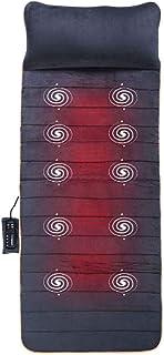 lqgpsx Masajeador de Espalda y Cervical, 10 Motores Vibrante Memory Foam Masaje Colchoneta Alivio Dolor Espalda Masajeador Cuerpo Completo Cuello Espalda Relajación Muscular Pantorrilla Lumbar