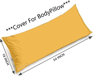 Tishnagi Designer Ultra Soft Body Pillow Cover - Long 100% Natural Reyon Cotton Body Pillow Cover