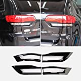 JHO Tail Light Cover Trim Glossy Black Bezel Replacement Fits for 2014-2020 2015 2016 2017 2018 2019 Jeep Grand Cherokee car accessories (4 slices)