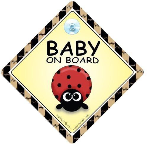 Baby On Board, petit-enfant à bord, panneau pour voiture,, coccinelle, Baby on Board, pare-chocs, autocollant pour voiture Panneau, panneau bébéà bord Voiture Unisexe, Baby on Board, Coque, autocollant, autocollant, petit-enfant à bord, bébé Signes