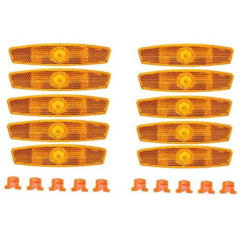 Lhbfcy Speichenreflektoren Orange Reflektoren Für Mountainbike Fahrrad-Speichen-Reflektoren Sport Freizeit Auto Reflektoren Für Fahrräder Mit Speichen Fahrrad Mountainbike Rennrad Sicherheit-10Stück