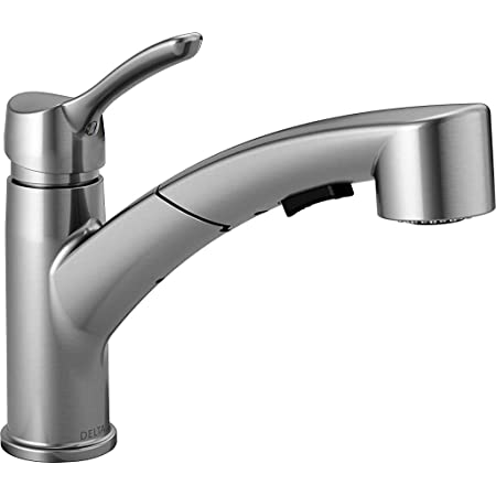 NEW DELTA USA 470-AR-DST SIGNATURE SINGLE HANDLE KITCHEN FAUCET STAINLESS  SPRAY
