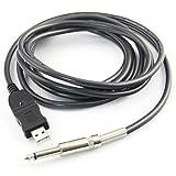 Pixnor Link Adaptateur Câble d'enregistrement USB Guitare vers PC 3m