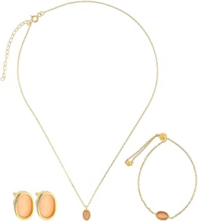 Alwan Silver (Gold Plated) Necklace, Bracelet and Earring Jewellery Set for Babies - EE5208SETGPN