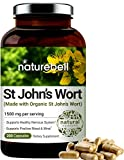 St John's Wort Supplement, Made with Organic St John's Wort Complex, 1500 mg Per Serving, 200 Capsules, Strongly Supports Positive Mood, Mind and Nervous System, No GMOs