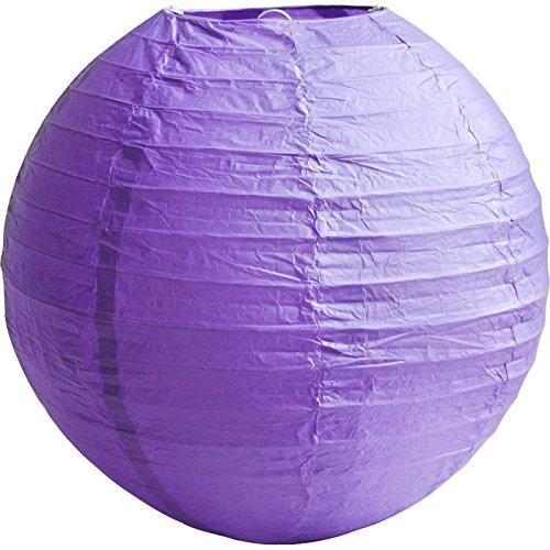 Matissa 25,4 cm (25 cm) 6-pack papieren lantaarns decoratie bruiloft craft lampenkap (violet)