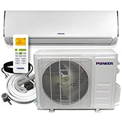 HighEfficiency Diamante Ductless Mini Split Heat Pump System Use for both cooling and heating: 12000 BTU/hour with 19 SEER and 9.5 HSPF efficiency Diamante series carries a full line of low-ambient wall-mounted mini splits with capacities ranging fr...