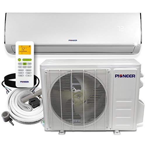 Pioneer Diamante Series Ductless Mini-Split Air Conditioner Inverter Heat Pump Full Set with 16 Ft. Kit