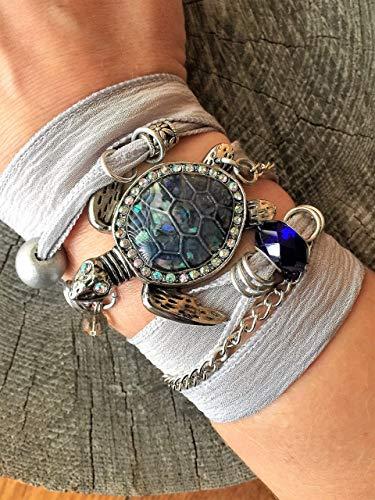 HANO Sea Turtle Bracelet for Women, Ocean Wrap Bracelet, Beach Bracelet for Women