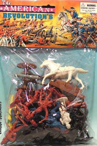 50 piece Revolutionary War Plastic Army Men 65mm Soldier Figure Toy Set by Americana BMC
