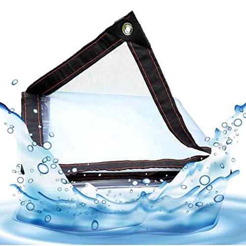 QI-CHE-YI Tarps Tarp Wasser Blocking Balkon wasserdichtes Tuch wasserdichter Vorhang transparentes Plastik Fleshy Haus Winddichtes Außen Edging,2x8m