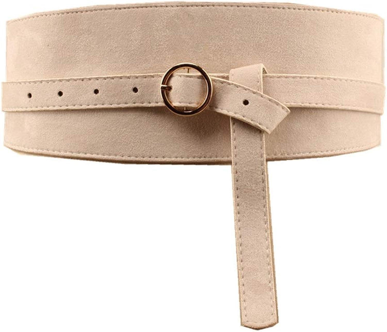 PU Leather Belts for Women Brown Waist Sash Women Pgoldus Belt (color   Beige)