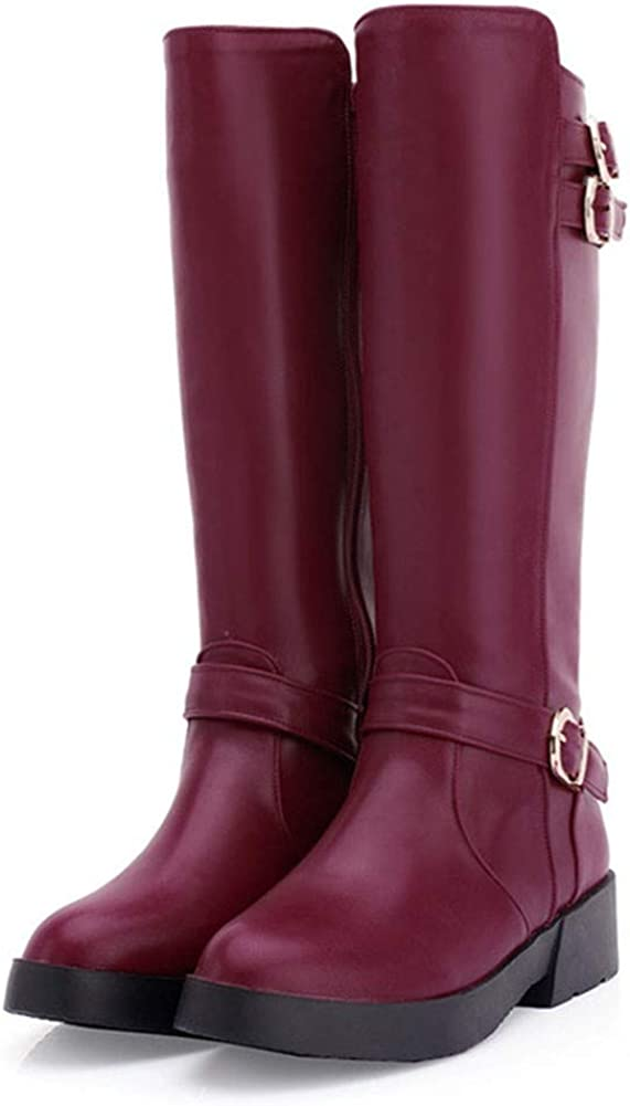Vimisaoi Womens Platform Chunky Knee-High Fashion Dedication Low Luxury goods Boots Heel