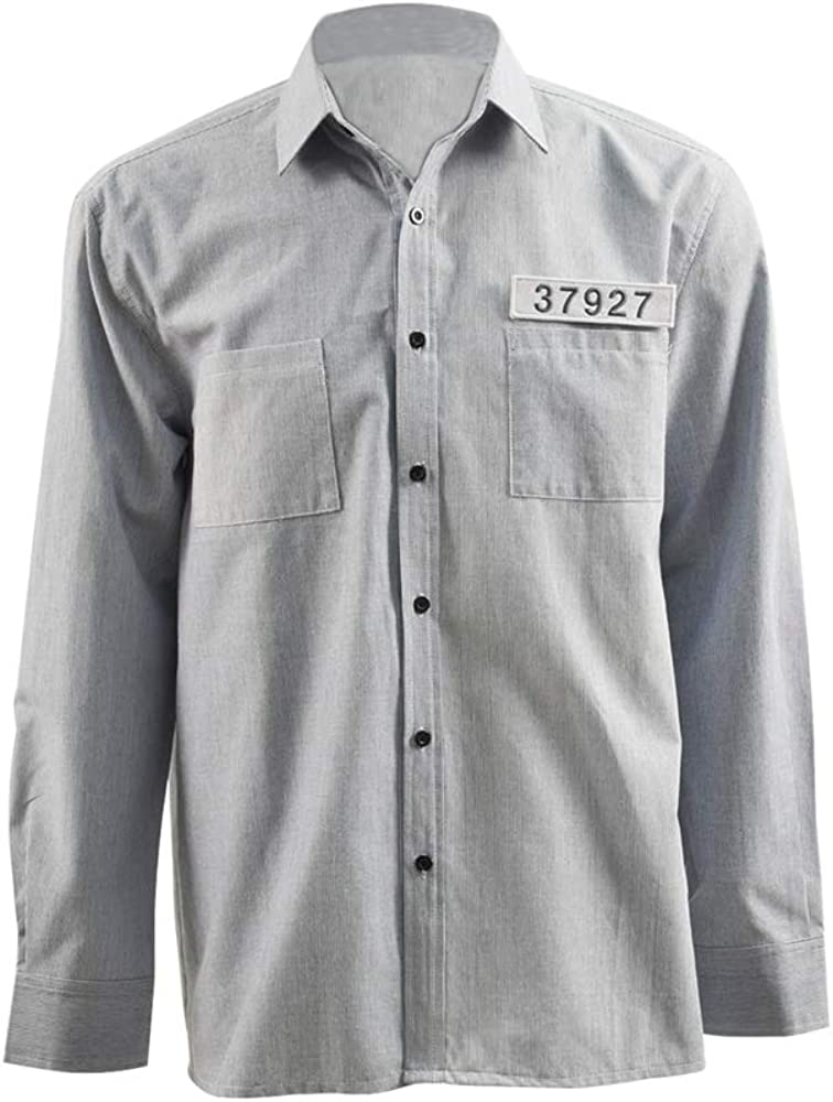 BESTcos San Antonio Mall Halloween Andy Dufresne Cosplay Costume for Beauty products Casual Shirt
